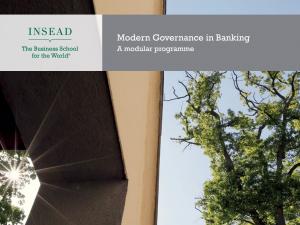 Modern Governance in Banking programme