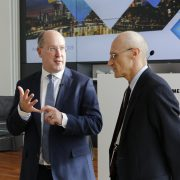 Andrea Enria, the new Chair of the ECB's Supervisory Board, with Wim Mijs, Chief Executive Officer of the EBF. Photo: EBF